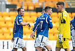 St Johnstone v Brechin….24.07.19      McDiarmid Park     Betfred Cup       <br />Chris Kane celebrates his goal<br />Picture by Graeme Hart. <br />Copyright Perthshire Picture Agency<br />Tel: 01738 623350  Mobile: 07990 594431