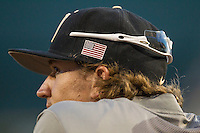 Vanderbilt Commodores pitcher Carson Fulmer (15) watches from the dugout during the NCAA College baseball World Series against the TCU Horned Frogs on June 16, 2015 at TD Ameritrade Park in Omaha, Nebraska. Vanderbilt defeated TCU 1-0. (Andrew Woolley/Four Seam Images)