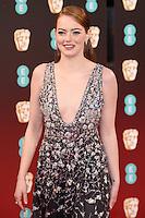 Emma Stone<br /> at the 2017 BAFTA Film Awards held at The Royal Albert Hall, London.<br /> <br /> <br /> ©Ash Knotek  D3225  12/02/2017
