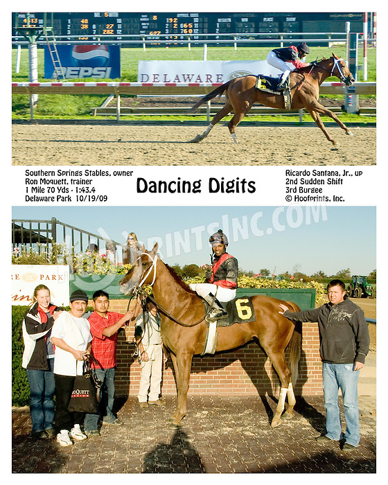 Dancing Digits winning at Delaware Park on 10/19/09