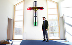 SOUTHBURY CT. 29 December 2017-122917SV03-Rev. Scott Nessel checks out the renovation and addition at St. James Church in Southbury Friday.<br /> Steven Valenti Republican-American