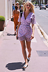 Cannes Film Festival 2021. 74th edition of the 'Festival International du Film de Cannes' under Covid-19 outbreak on 13/07/2021 in Cannes, France. Celebrity Sightings, Angelina Kali in AK Premier and Hermes