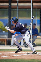New York Yankees first baseman Ryan Krill (65) follows through on a swing during a minor league Spring Training game against the Toronto Blue Jays on March 30, 2017 at the Englebert Complex in Dunedin, Florida.  (Mike Janes/Four Seam Images)