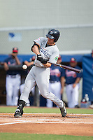 Blake Rutherford (21) of the Pulaski Yankees at bat against the Danville Braves at American Legion Post 325 Field on July 31, 2016 in Danville, Virginia.  The Yankees defeated the Braves 8-3.  (Brian Westerholt/Four Seam Images)