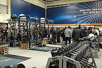 SAN ANTONIO, TX - MARCH 28, 2018: The University of Texas at San Antonio Roadrunners perform during the UTSA Football Pro Day at the Roadrunner Practice Facility. (Photo by Jeff Huehn)