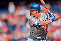 20 May 2018: Los Angeles Dodgers outfielder Joc Pederson in action against the Washington Nationals at Nationals Park in Washington, DC. The Dodgers defeated the Nationals 7-2, sweeping their 3-game series. Mandatory Credit: Ed Wolfstein Photo *** RAW (NEF) Image File Available ***