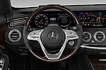 Car pictures of steering wheel view of a 2019 Mercedes Benz S-Class S-560 2 Door Convertible Steering Wheel