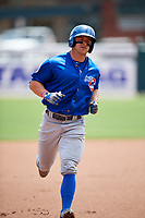 Iowa Cubs center fielder John Andreoli (7) running the bases during a game against the Memphis Redbirds on May 29, 2017 at AutoZone Park in Memphis, Tennessee.  Memphis defeated Iowa 6-5.  (Mike Janes/Four Seam Images)