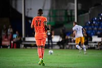 LAKE BUENA VISTA, FL - JULY 27: Daniel Vega #17 of the San Jose Earthquakes watches the ball during a game between San Jose Earthquakes and Real Salt Lake at ESPN Wide World of Sports on July 27, 2020 in Lake Buena Vista, Florida.
