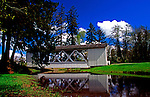 Covered Bridge in Oregon.  Thomas Creek, Willamette Valley, Linn County covered bridge tour.