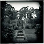 JULY 1995    -  Melbourne, Australia   - Steps in the park that surrounds the Maroondah Dam.
