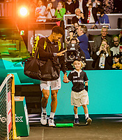Rotterdam, The Netherlands, 16 Februari 2020, ABNAMRO World Tennis Tournament, Ahoy,<br /> Mens Final:  Felix Auger-Aliassime (CAN) makes his entrance<br /> Photo: www.tennisimages.com