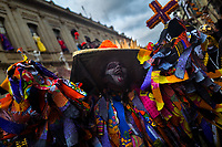 A Mexican woman, dressed in a colorful La Catrina costume, performs during the Day of the Dead celebrations in Oaxaca, Mexico, 30 October 2019. Day of the Dead (Día de Muertos), a religious holiday combining the death veneration rituals of Pre-Hispanic cultures with the Catholic practice, is widely celebrated throughout all of Mexico. Based on the belief that the souls of the departed may come back to this world on that day, people gather together while either praying or joyfully eating, drinking, and playing music, to remember friends or family members who have died and to support their souls on the spiritual journey.