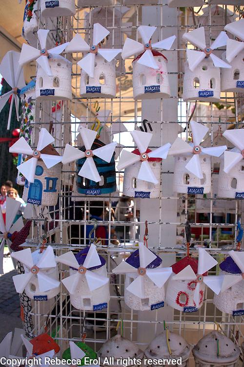 Alacati, Turkey: windmill souvenirs