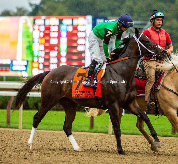 SEPT 05, 2021: DEAM LITH post parade in the Gr.1 Spinaway Stakes, for 2-year old fillies, going 7 furlongs, at Saratoga Racecourse, Saratoga Springs, New York. Sue Kawczynski/Eclipse Sportswire/CSM