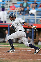 September 9 2008:  Jahdiel Santamaria of the Staten Island Yankees, Class-A affiliate of the NY Yankees, during Game One of the opening playoff series at Russell Diethrick Park in Jamestown, NY.  Photo by:  Mike Janes/Four Seam Images