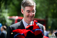 Jacob Rees-Mogg (British Conservative Party politician, Member of Parliament for North East Somerset; he is on the Eurosceptic wing of the Conservative Party).<br /> <br /> London, 24/06/2016. The United Kingdom decided to leave the European Union. The British people voted (Turnout 72.2%): 51,9% to leave the EU (17,410,742 Votes) versus 48,1% to remain in the EU (16,141,241 Votes).<br /> <br /> For the full caption please find the 2-page PDF attached at the beginning of this story.<br /> <br /> For more information abou the result please clich here: http://www.bbc.co.uk/news/politics/eu_referendum/results