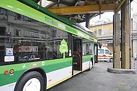 - Milan, ATM (Azienda Trasporti Milanesi), Teodosio tram depot and workshop; eco-friendly hybrid bus<br /> <br /> - Milano, ATM (Azienda Trasporti Milanesi), deposito e officina dei tram Teodosio; autobus ecologico ad alimentazione ibrida