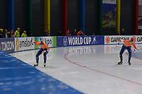 SPEEDSKATING: 23-11-2019 Tomaszów Mazowiecki (POL), ISU World Cup Arena Lodowa, 500m Ladies Division A, Sanneke de Neeling (NED), Michelle de Jong (NED), ©photo Martin de Jong
