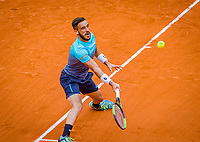 Paris, France, 01 June, 2018, Tennis, French Open, Roland Garros, Damir Dzumhur (BIH)<br /> Photo: Henk Koster/tennisimages.com