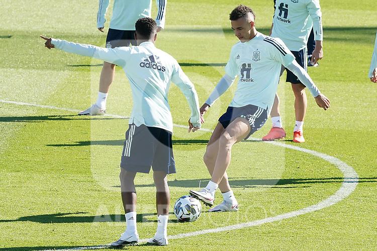 Spain's Rodrigo Moreno during training session. October 6,2020.(ALTERPHOTOS/Acero)