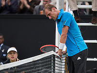 Netherlands, Den Bosch, 19.06.2014. Tennis, Topshelf Open, Thiemo de Bakker (NED) is frustrated<br /> Photo:Tennisimages/Henk Koster