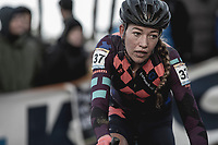 Sophie De Boer (NED/Breepark) cornering<br /> <br /> <br /> Women's Race<br /> UCI CX World Cup Zolder / Belgium 2017