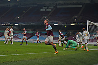 9th January 2021; Turf Moor, Burnley, Lanchashire, England; English FA Cup Football, Burnley versus Milton Keynes Dons; Matěj Vydra of Burnley celebrates as he equalises in the final minute to take the match to extra time
