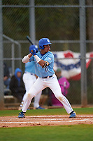 Indiana State Sycamores Diego Gines (11) bats during a game against the Dartmouth Big Green on February 21, 2020 at North Charlotte Regional Park in Port Charlotte, Florida.  Indiana State defeated Dartmouth 1-0.  (Mike Janes/Four Seam Images)