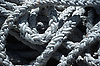 close-up of white ropes in a harbor<br /> <br /> detalle de cabos blancos en un puerto<br /> <br /> Nahaufnahme von weißen Tauen in einem Hafen<br /> <br /> 1870 x 1238 px<br /> Original: 35 mm slide transparency