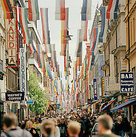 Shopping street in Stockholm, Sweden
