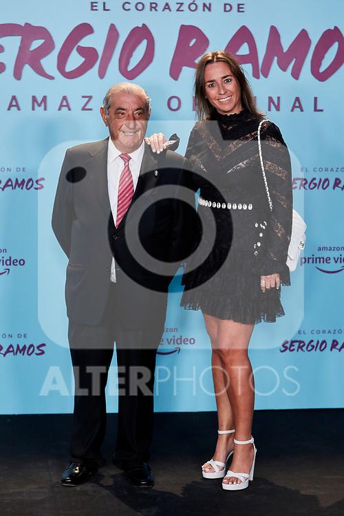 "Juan Jose Hidalgo and Cristina Hidalgo attends to ""El Corazon De Sergio Ramos"" premiere at Reina Sofia Museum in Madrid, Spain. September 10, 2019. (ALTERPHOTOS/A. Perez Meca)"