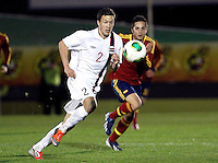 Norway's Linnes and Spain's Sarabia during an International sub21 match. March 21, 2013.(ALTERPHOTOS/Alconada) /NortePhoto