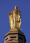 Statue of Mary on the Golden Dome atop the Main Building at the University of Notre Dame