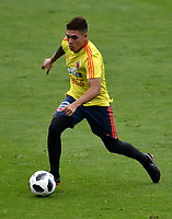 BOGOTÁ - COLOMBIA, 24–05-2018: Juan Fernando Quintero, jugador de la Selección Colombia, durante entrenamiento en el Estadio Nemesio Camacho El Campín, en Bogotá. Colombia se prepara para la próxima la Copa Mundo FIFA 2018 Rusia. / Juan Fernando Quintero, player of the Colombia Team, during training at the Nemesio Camacho El Campin stadium, in Bogota city. Colombia prepares for the next 2018 FIFA World Cup Russia. Photo: VizzorImage / Luis Ramirez /Staff.