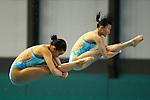 Sayaka Shibusawa & Hana Kaneto,<br /> SEPTEMBER 18, 2015 - Diving : <br /> All Japan Diving Championship 2015<br /> Women's Synchronised 3m Springboard Final<br /> at Tatsumi International Swimming Center, Tokyo, Japan.<br /> (Photo by Shingo Ito/AFLO SPORT)
