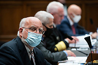 Robert Redfield, director of the Centers for Disease Control and Prevention (CDC), and other health officials testify before the House Energy and Commerce Committee in Washington, D.C., U.S., on Tuesday, June 23, 2020. Trump administration health officials will tell lawmakers that their agencies are preparing for a flu season that will be complicated by the coronavirus pandemic. <br /> Credit: Sarah Silbiger / Pool via CNP/AdMedia