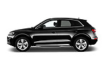 Car driver side profile view of a 2018 Audi Q5 Design 5 Door SUV