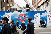 Improvements works to Bond Street underground station, Oxford Street.