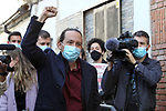 The candidate of Unidas Podemos the Presidency of the Community, Pablo Iglesias on his arrival at an act of the party on April 26, 2021 in Madrid, Spain.(AlterPhotos/ItahisaHernandez)