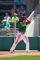 Boston Red Sox Rafael Devers (11) bats during a Major League Spring Training game against the Minnesota Twins on March 17, 2021 at JetBlue Park in Fort Myers, Florida.  (Mike Janes/Four Seam Images)