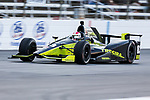 Verizon IndyCar Series driver Charlie Kimball (83) in action during the RainGuard 600 race at Texas Motor Speedway in Fort Worth,Texas.