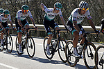 The peloton including Peter Sagan (SVK) and Wilco Kelderman (NED) Bora-Hansgrohe during Stage 3 of the 100th edition of the Volta Ciclista a Catalunya 2021, running 203.1km from Canal Olimpic de Catalunya to Vallter 2000, Spain. 24th March 2021.   <br /> Picture: Bora-Hansgrohe/Luis Angel Gomez/BettiniPhoto | Cyclefile<br /> <br /> All photos usage must carry mandatory copyright credit (© Cyclefile | Bora-Hansgrohe/Luis Angel Gomez/BettiniPhoto)
