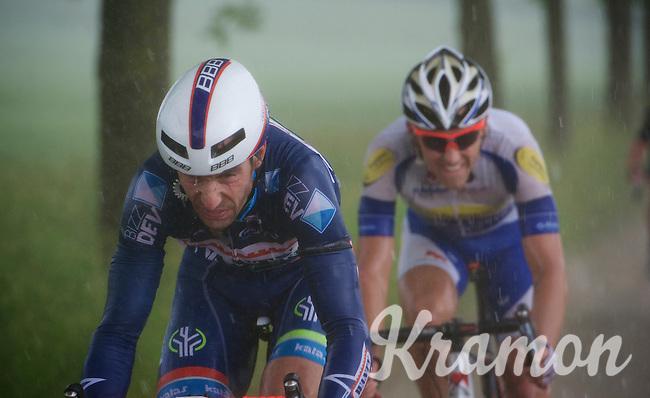 Kenny De Haes (BEL/Wanty-Groupe Gobert) trying to get ahead in a rainstorm<br /> <br /> stage 3: Buchten - Buchten (NLD/210km)<br /> 30th Ster ZLM Toer 2016