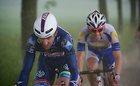 Kenny De Haes (BEL/Wanty-Groupe Gobert) trying to get ahead in a rainstorm<br /> <br /> stage 3: Buchten - Buchten (NLD/210km)<br /> 30th Ster ZLM Toer 2016
