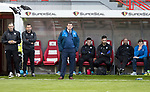 Hamilton Accies v St Johnstone…01.04.17     SPFL    New Douglas Park<br />Tommy Wright and the saints bench look on after today's defeat<br />Picture by Graeme Hart.<br />Copyright Perthshire Picture Agency<br />Tel: 01738 623350  Mobile: 07990 594431