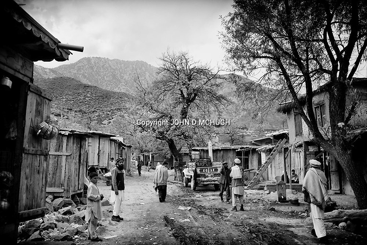 A general view of Nishigam village, Kunar Province, 05 December 2011. (John D McHugh)