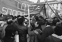 - tafferugli fra operai del sindacato e gruppi extraparlamentari durante uno sciopero generale in Torino....- scuffle between workers of the labor union and leftist groups during a general strike in Turin..