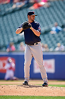 Pawtucket Red Sox relief pitcher Josh A. Smith (39) gets ready to deliver a pitch during a game against the Buffalo Bisons on June 28, 2018 at Coca-Cola Field in Buffalo, New York.  Buffalo defeated Pawtucket 8-1.  (Mike Janes/Four Seam Images)