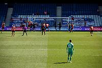 17th April 2021; Kenilworth Road, Luton, Bedfordshire, England; English Football League Championship Football, Luton Town versus Watford; Luton go close as Simon Sluga (Luton Goalkeeper) looks on.